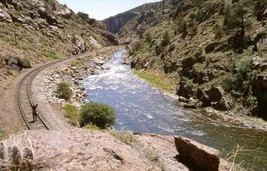 Arkansas River near the Royal Gorge in Colorado.