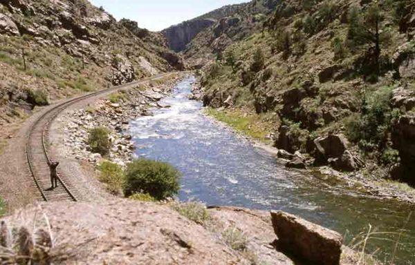 Arkansas River near the Royal Gorge in Colorado.
