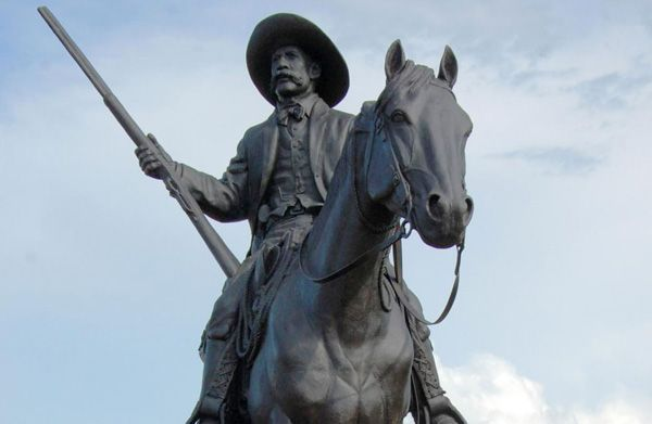 A statue of U.S. Deputy Marshal Bass Reeves in Fort Smith, Arkansas. By Jeannie Nuss/AP Photo