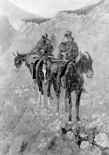 Explorers by Frederic Remington, 1904