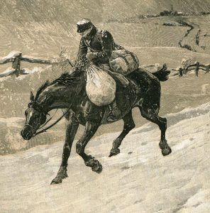 Carrying the mail by John Charles Dollman