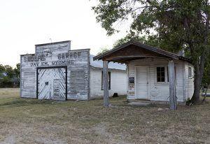 Garage in Jay Em, Wyoming by Carold Highsmith