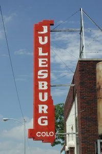 Julesburg Colorado Sign, courtesy South Platte River Trail