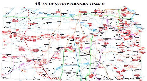 Frontier Trails Of Kansas Legends Of America - Chisholm trail map