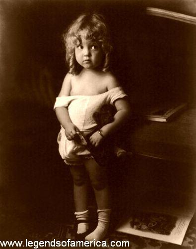 Little girl, W.B. Poynter, 1916