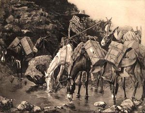 Mule Train by Frederic Remington