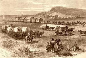 Railroad building on the great plains, A.R. Waud, 1875