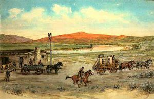 Red Buttes, Wyoming Pony Express Station by William Henry Jackson