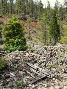 Remains of a Waldo, Oregon mine