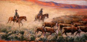 Cattle Drive by Barbara Lightner