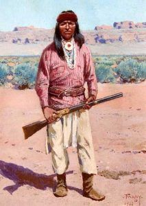 Apache warrior by William F. Farny
