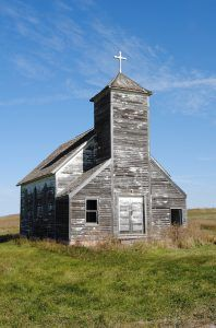 Arena, North Dakota Church, by Kathy Weiser