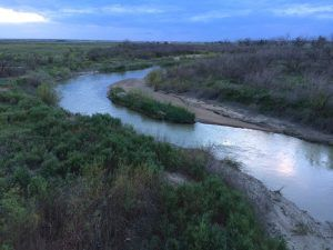 Arkansas River in Hamilton County, Kansas