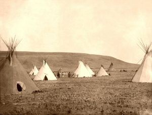Gros Ventre Camp, 1908