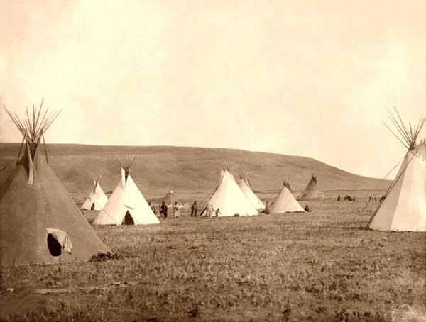 Gros Ventre Camp, 1908