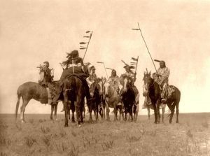 Gros Ventre Warriors, 1908