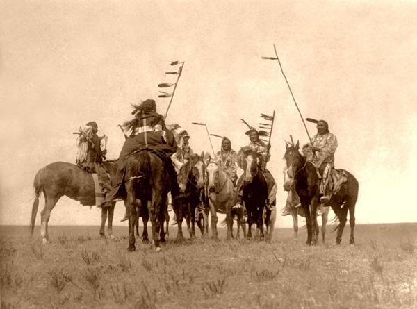 Gros Ventre Warriors, 1908