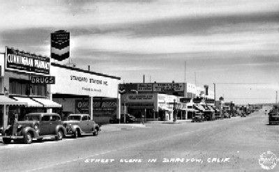 Vintage Postcard - Barstow Street Scene-1938