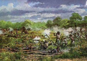 Battle of the Neches, Texas by Donald M. Yena