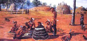 Caddo Village Scene