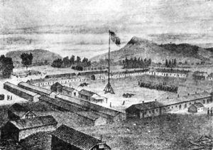 Camp Cooke Sketch by A. E. Noyes, 1868.