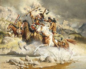 Cheyenne Warriors by Frank McCarthy