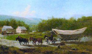 Conestoga Wagon by Newbold Hough Trotter, 1883