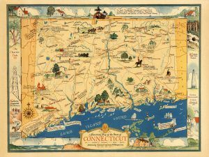 Connecticut Historic Map
