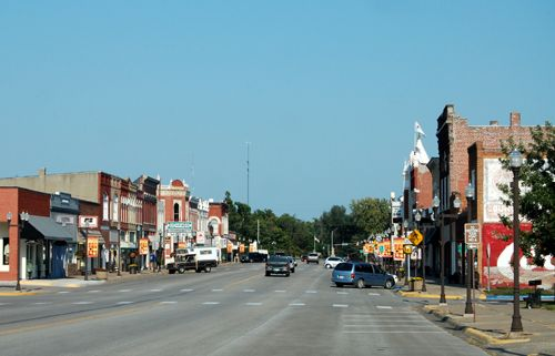 Council Grove, Kansas Main Street today