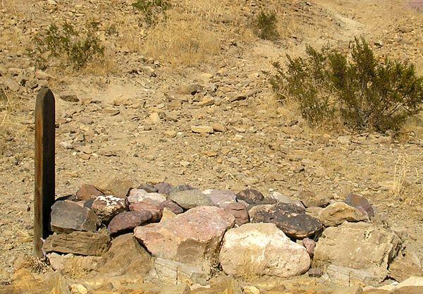 Desert Grave in California