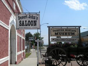 Desert John's Saloon in Deerlodge, Montana
