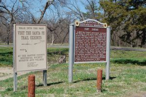 Fort Zarah site, Barton County, Kansas