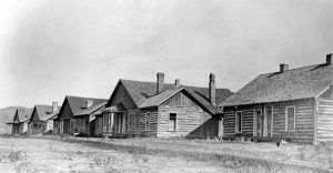 Officers' Quarters at Fort Ellis, Montana 1886