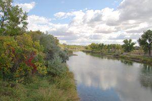 The Platte River at Fort Laramie, Wyoming