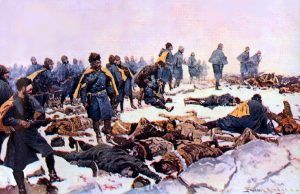 Fort Robinson Massacre by Frederic Remington, 1897