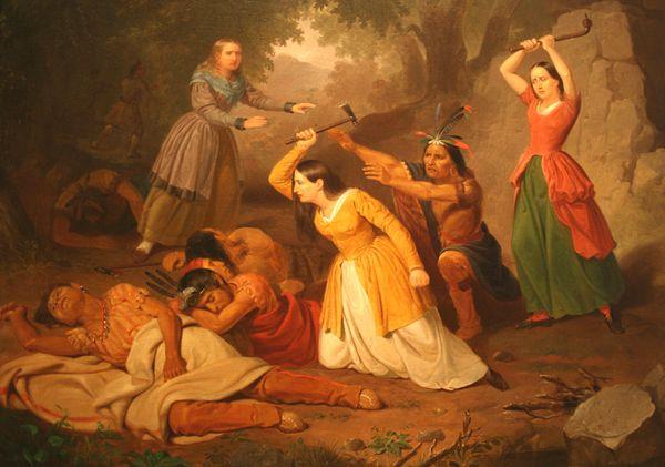 Hannah Duston Kills Her Indian Captors