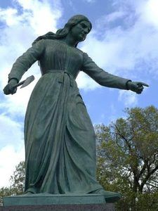 Hannah Dustin statue, Haverhill, Massachusetts