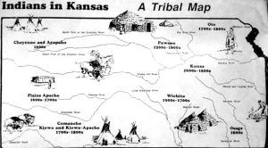 Kansas Indian Map