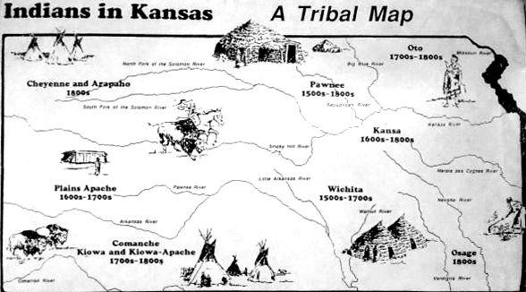 Kansas Indian Map