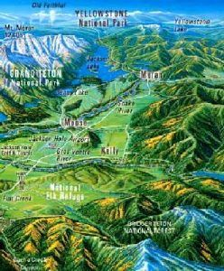 Jackson Hole, Wyoming Map, courtesy Map courtesy Jackson Hole Chamber of Commerce
