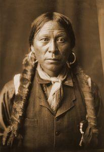 Jicarilla Apache man, by Edward Sheriff Curtis circa 1904.