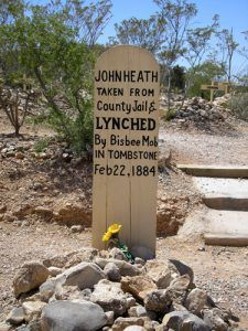 Alleged grave of John Heath in Tombstone