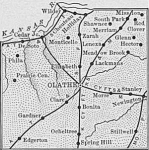 Johnson County, Kansas, 1899 Map