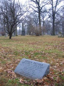 Joshua Pilcher grave at Bellefontaine Cemetery, St. Louis, Missouri