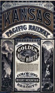 Kansas Pacific Railway Poster