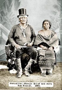 Manuelito and wife, Juanita in 1881