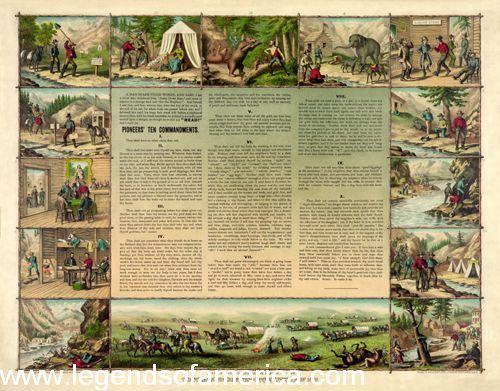 Miners Pioneer Ten Commandments of 1849, W.R. Bennett, 1887.