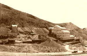 The Montgomery Shoshone Mine & Mill complex near Rhyolite, Nevada