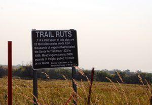 Santa Fe Trail Ruts west of Council Grove, Kansas