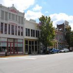 Main Street in New Harmony, Indiana today.